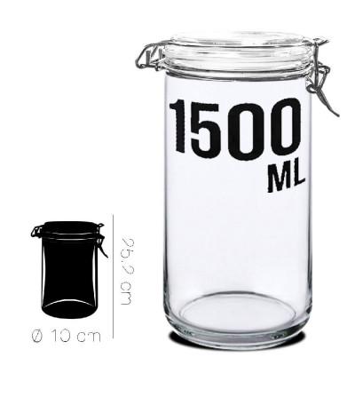 TARRO CRISTAL HERMETICO 1500 MLS